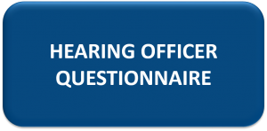 NAM Hearing Officer Questionnaire