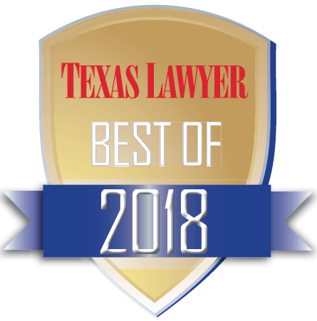 NAM (National Arbitration and Mediation) Texas Lawyer Best of 2018 Badge